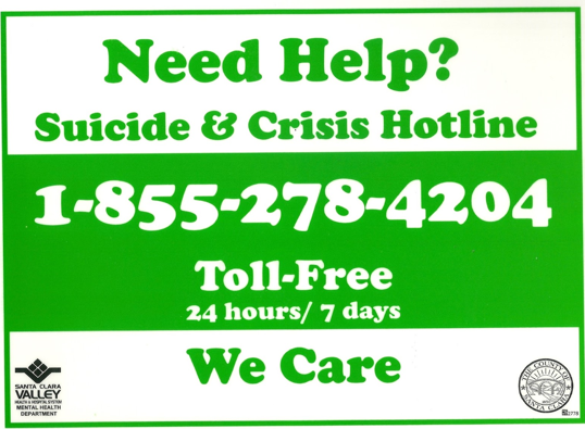 Need Help? Call Suicide & Crisis Hotline